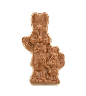 Waving Bunny Buddies Solid Chocolate Easter Bunny-Set of 3