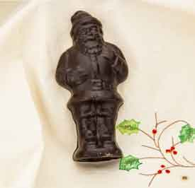 Solid Chocolate Santa -5 pc Set